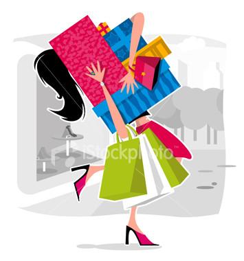 girl w shopping bags